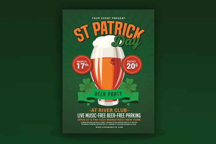 St Patricks Day Beer Party Flyer