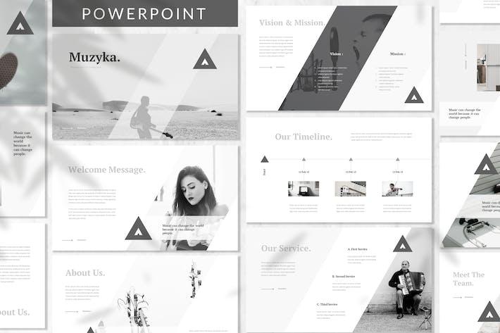 Thumbnail for Музыка - Музыка Powerpoint Шаблон