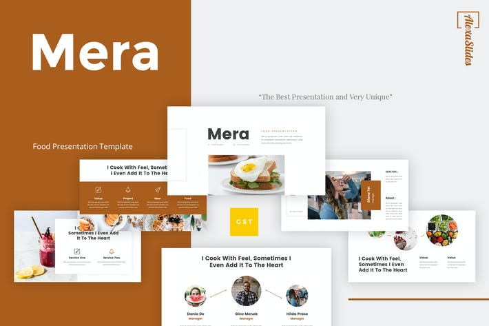Thumbnail for Mera - Food Google Slides Template