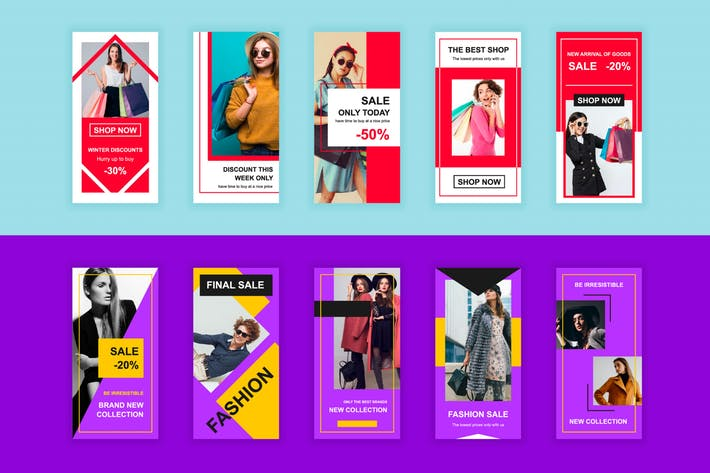 Thumbnail for Shopping et mode Instagram Stories Modèle