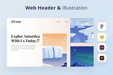 Traveling Illustration Web Header
