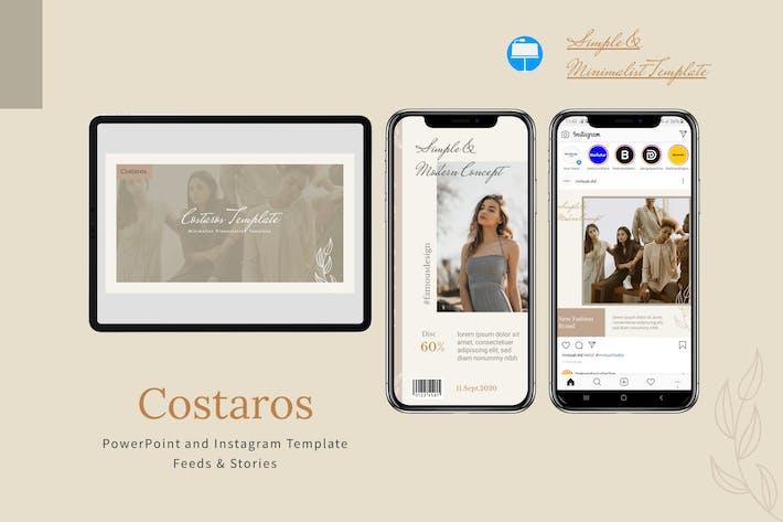 Costaros - Шаблон Keynote & Instagram