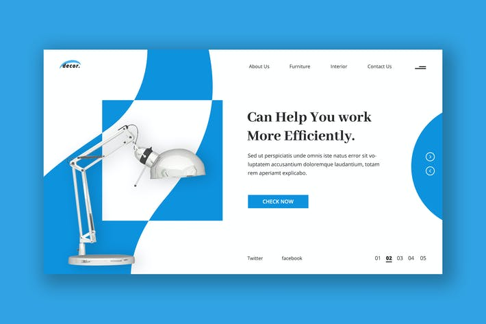 Cover Image For Office Desk Lamps Hero Header Template