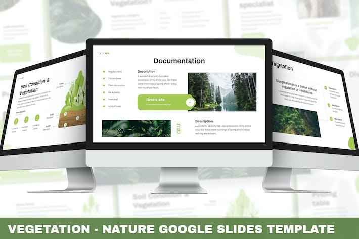 Растительность - Природа Google Слайды Шаблон