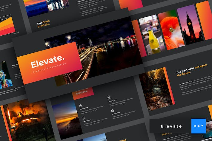 Thumbnail for Elevate - Creative Keynote Template