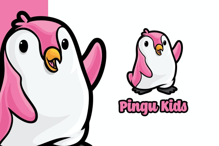 Thumbnail for Penguin kids toy Logo Mascot Template