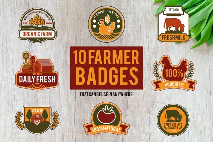 Thumbnail for 10 Farmer Badges