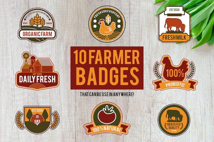 Cover Image For 10 Farmer Badges