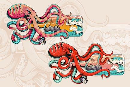 Octopus Illustration Kunstwerk