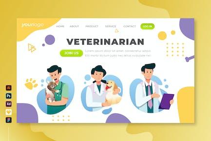 Ветеринар - Вектор Landing Page