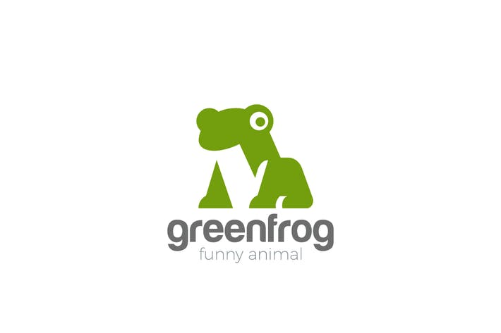 Thumbnail for Logo Frog funny friendly Animal Negative space