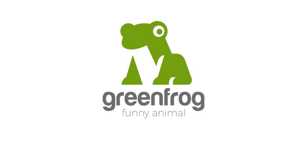 Download Logo Frog funny friendly Animal Negative space by Sentavio