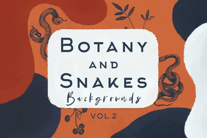 Thumbnail for Botany And Snakes Backgrounds Vol.2