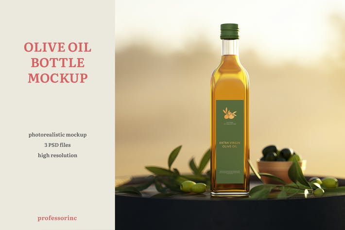 Thumbnail for Olive Oil Bottle Mockup