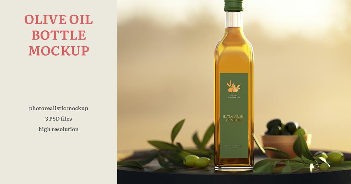 Download Olive Oil Bottle Mockup by professorinc