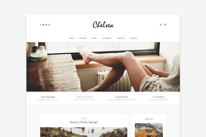 Thumbnail for Chelsea - Personal Blog Template for Travelers