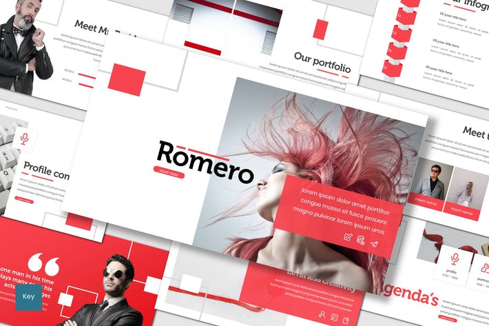 Thumbnail for Romero - Keynote Template