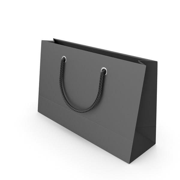 Черный мешок для упаковки с черными ручками
