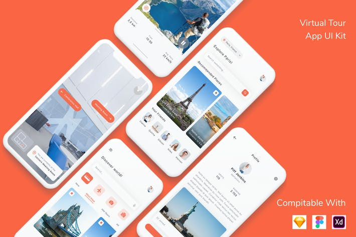 Thumbnail for Virtual Tour App UI Kit