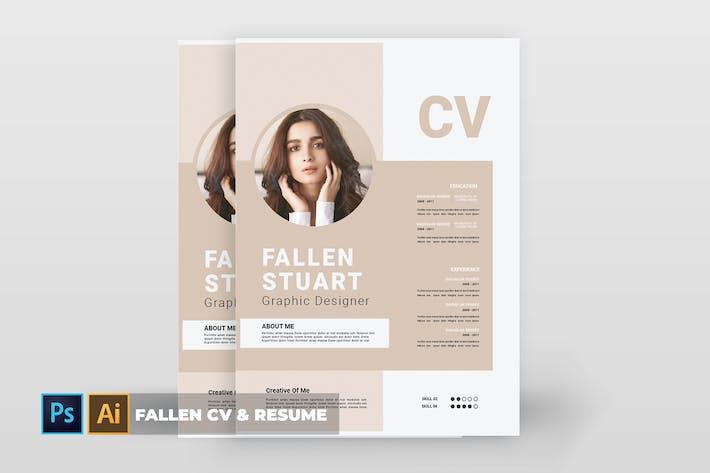 Cover Image For Fallen | CV & Resume