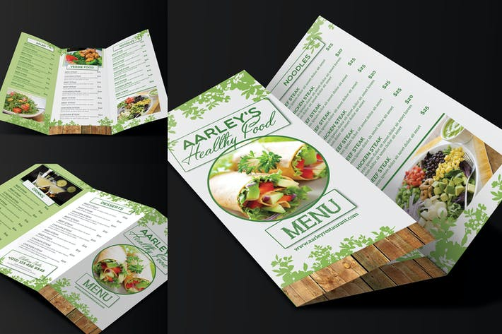 Thumbnail for Healthy Food Menu Trifold