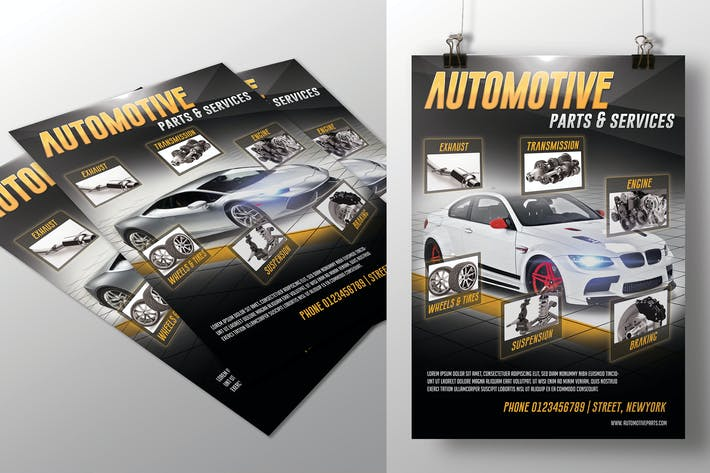 Thumbnail for Automotive Parts & Services Flyer