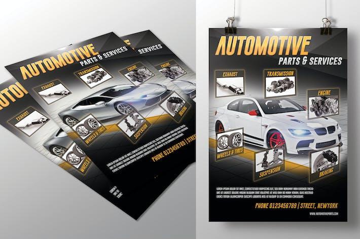 Thumbnail for Folleto de piezas y servicios para automóviles