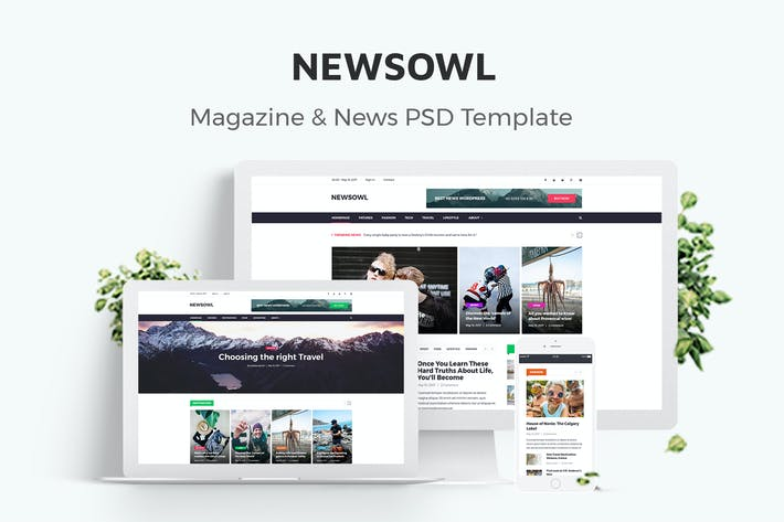 Thumbnail for NewsOwl - News Magazine Newspaper PSD Templates