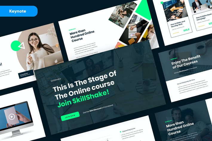 Thumbnail for SKILLSHAKE - Online Course Keynote Template