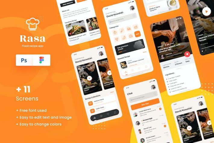 Thumbnail for Rasa - Modèle d'interface utilisateur de conception d'Appli iOS