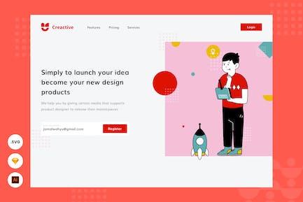 Exploration Idea -  Website Header - Illustration