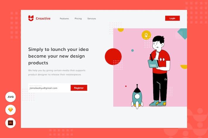 Thumbnail for Exploration Idea -  Website Header - Illustration