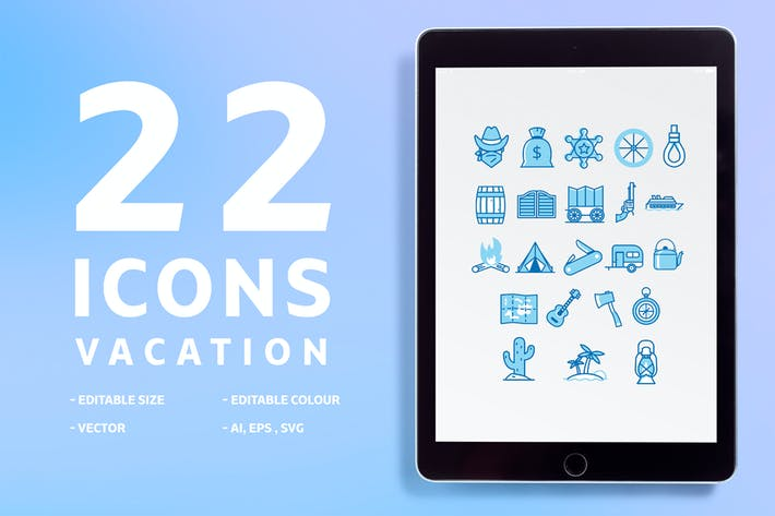 Cover Image For 22 icons Vacation
