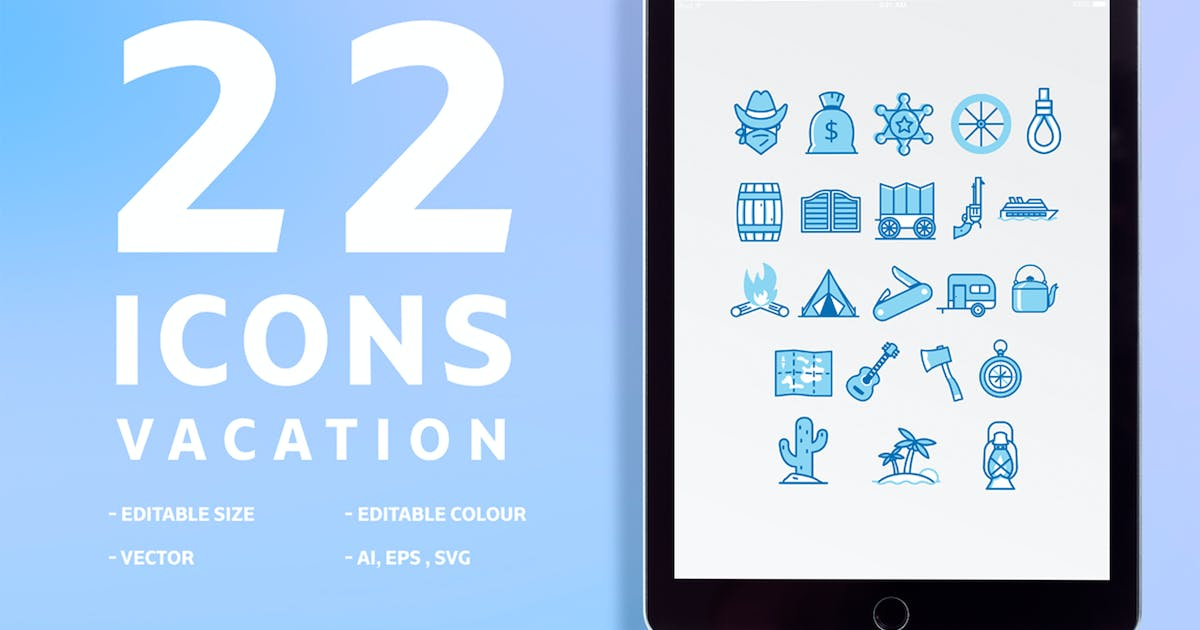 Download 22 icons Vacation by maghrib