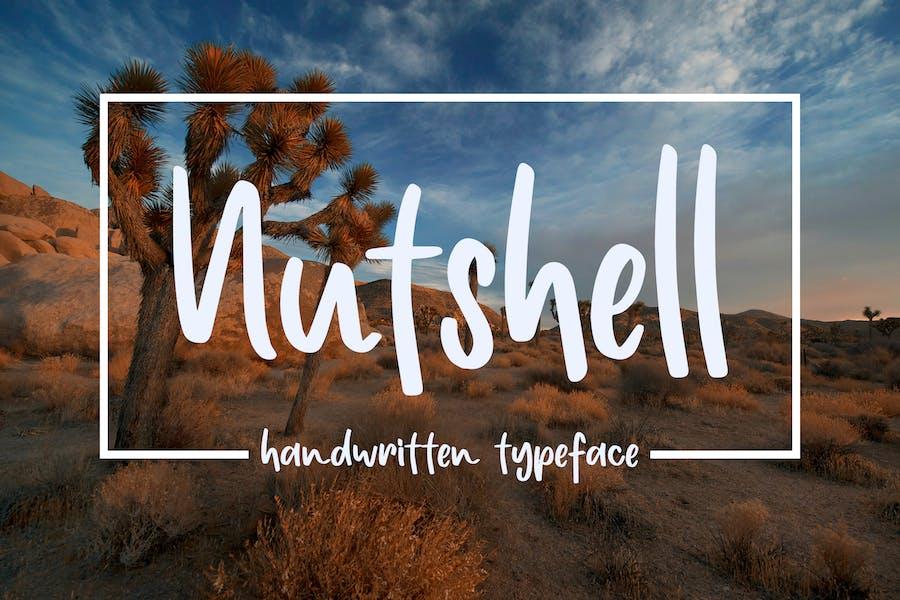 Nuthsell - Handwritten Typeface