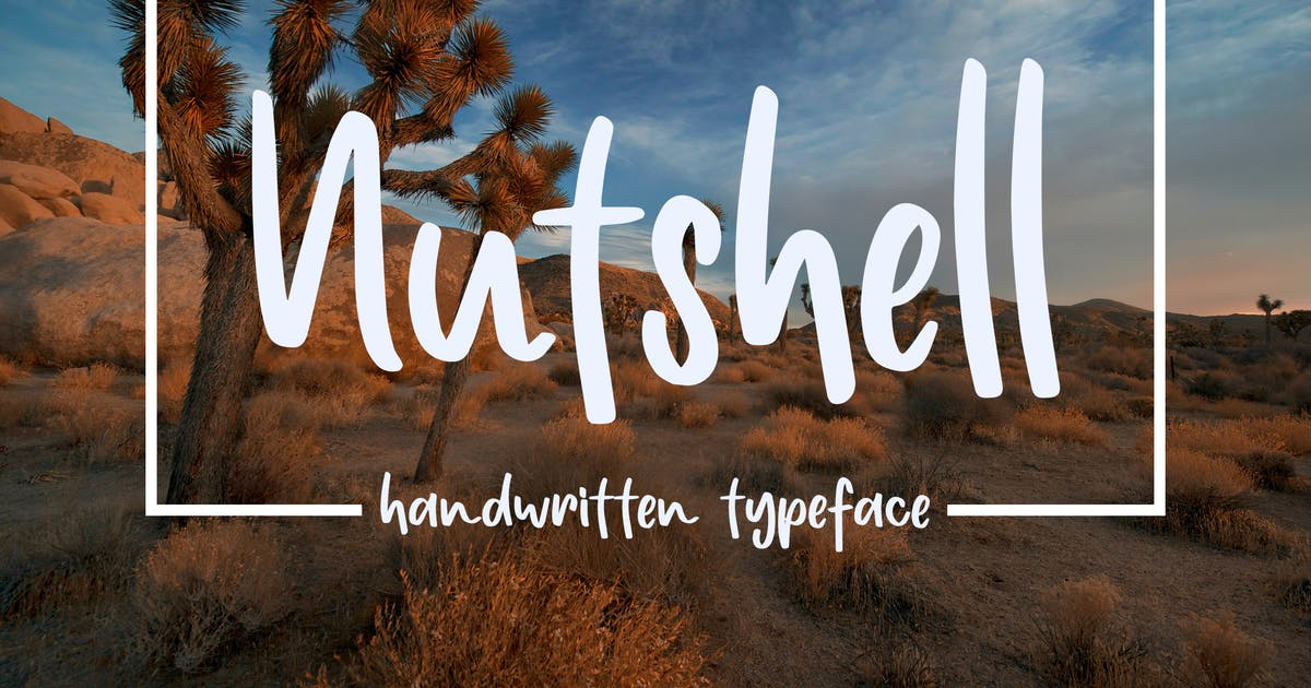 Download Nuthsell - Handwritten Typeface by deTheme