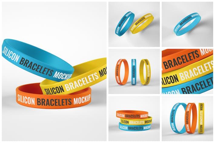 Thumbnail for Silicone Bracelet Mockup Set   Wristband