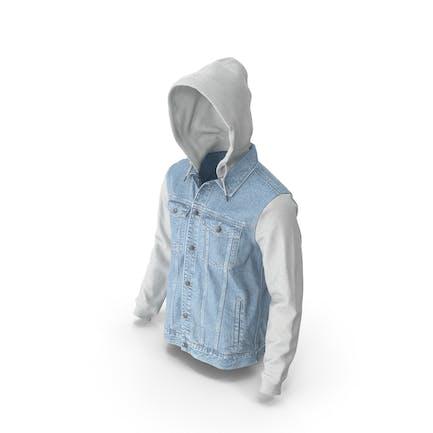 Jeansjacke für Herren Hellblau Weiß