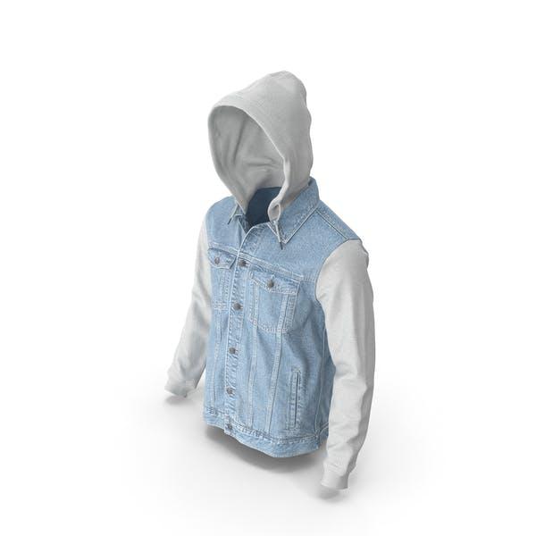 Men's Jean Jacket Light Blue White