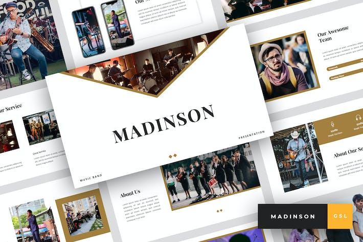 Thumbnail for Мэдинсон - Музыкальная группа Google Слайды