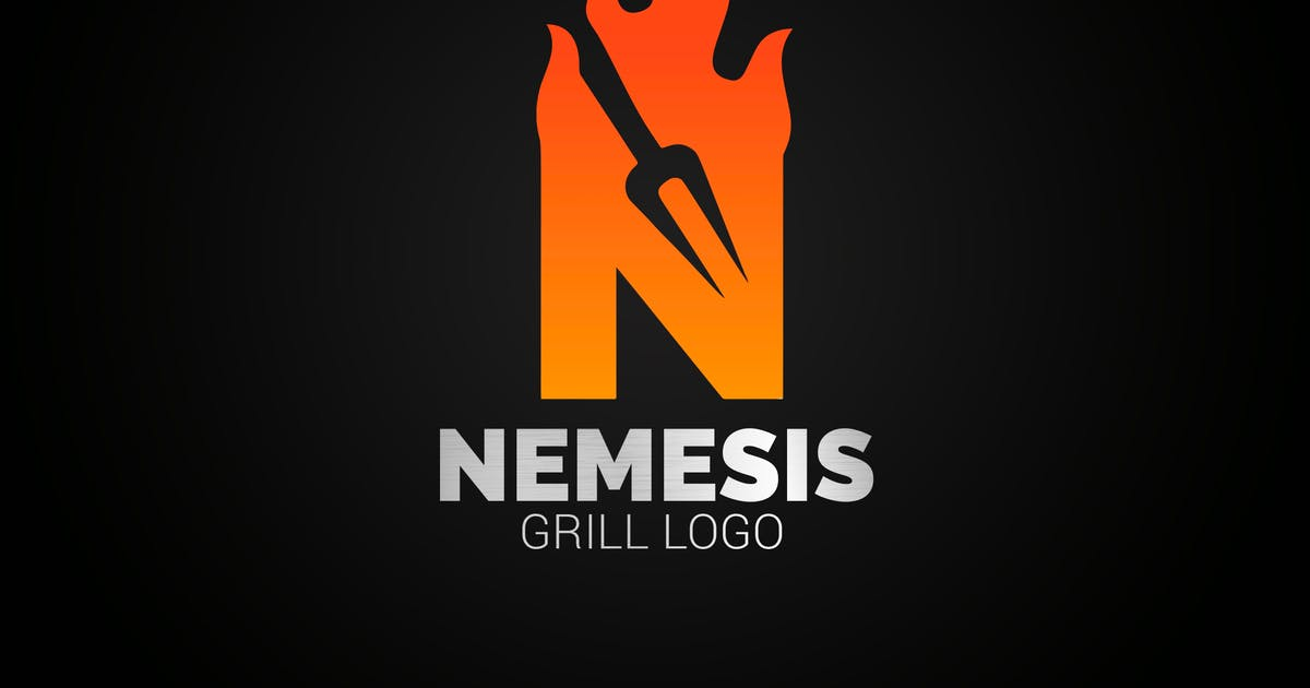 Download Letter N Fire Grill Logo by SmartDesigns_eu