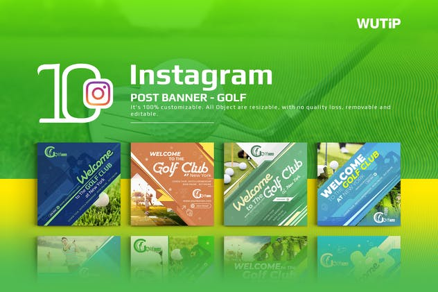 10 Instagram Post Banner-Golf - product preview 0