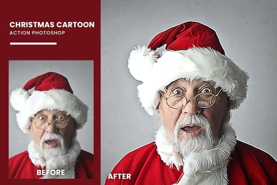 Christmas Cartoon Photoshop Action