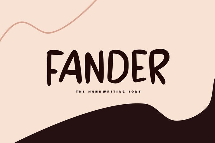 Thumbnail for Fander - La police d'écriture manuscrite