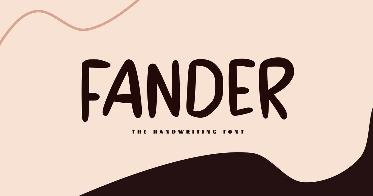 Download Fander - The Handwriting Font by Graphicfresh