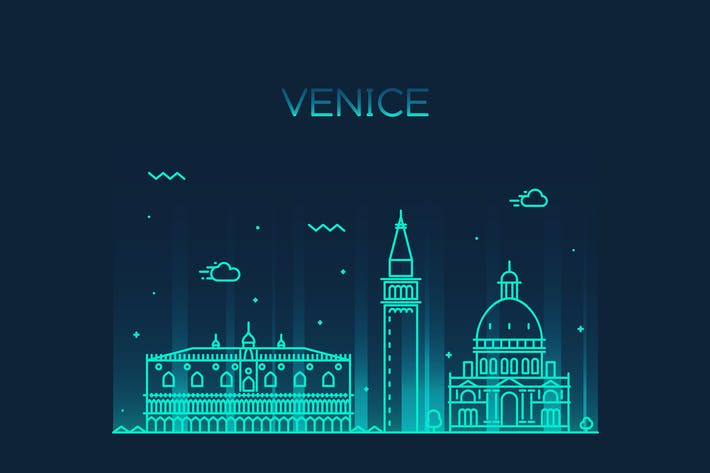 Thumbnail for Venice skyline, Italy