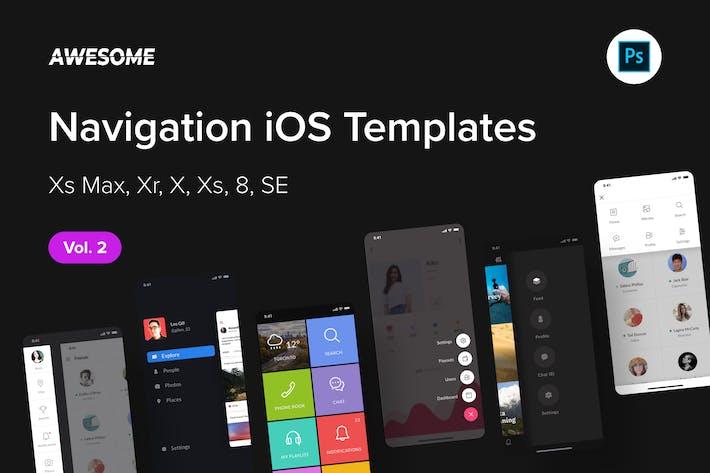 Thumbnail for Awesome iOS UI Kit - Navigation Vol. 2 (Photoshop)