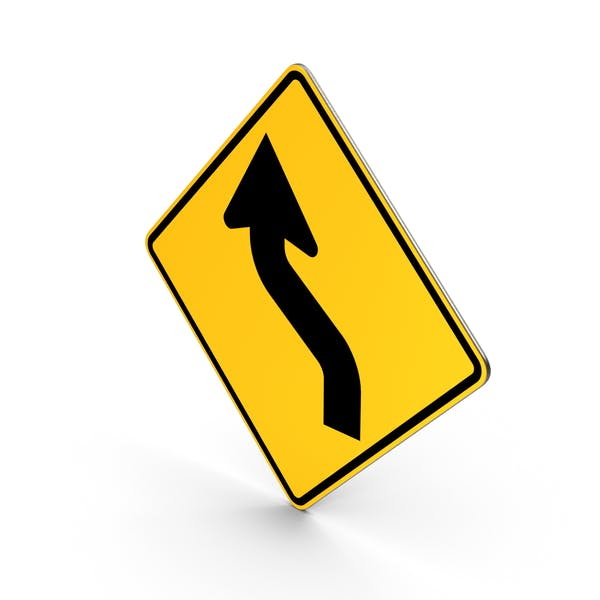 Road Sign Reverse Curve