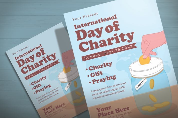 Thumbnail for International Day Of Charity - Flyer Template