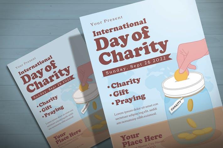 Thumbnail for Journée internationale de la charité - Modèle de dépliant